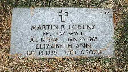 LORENZ, MARTIN R  VETERAN WWII - Greene County, Missouri | MARTIN R  VETERAN WWII LORENZ - Missouri Gravestone Photos