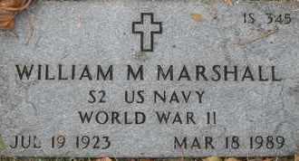 MARSHALL, WILLIAM M - Greene County, Missouri | WILLIAM M MARSHALL - Missouri Gravestone Photos