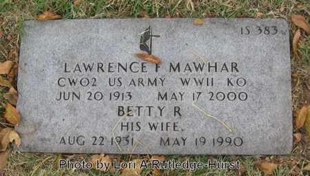 MAWHAR, BETTY R - Greene County, Missouri | BETTY R MAWHAR - Missouri Gravestone Photos