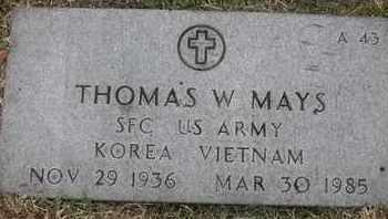 MAYS, THOMAS W - Greene County, Missouri | THOMAS W MAYS - Missouri Gravestone Photos