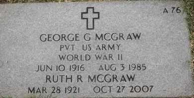MCGRAW, GEORGE G - Greene County, Missouri | GEORGE G MCGRAW - Missouri Gravestone Photos