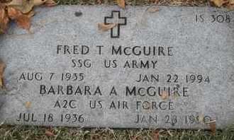 MCGURIE, BARBARA A - Greene County, Missouri | BARBARA A MCGURIE - Missouri Gravestone Photos