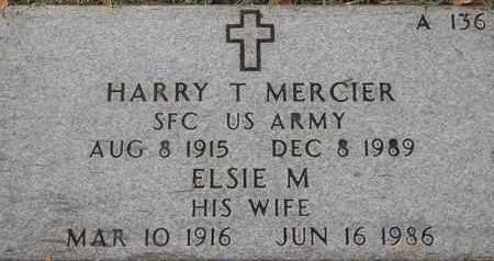 MERCIER, ELSIE M - Greene County, Missouri   ELSIE M MERCIER - Missouri Gravestone Photos