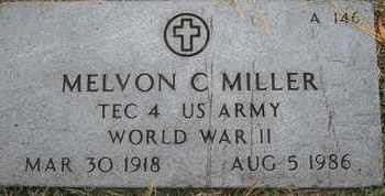 MILLER, MELVON C - Greene County, Missouri | MELVON C MILLER - Missouri Gravestone Photos