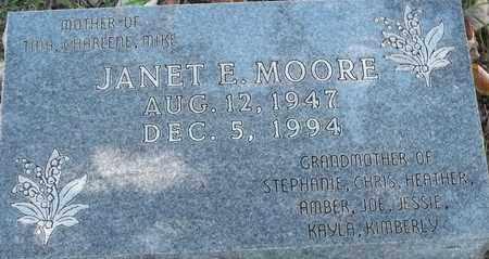 MOORE, JANET E - Greene County, Missouri   JANET E MOORE - Missouri Gravestone Photos