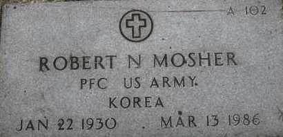 MOSHER, ROBERT N - Greene County, Missouri   ROBERT N MOSHER - Missouri Gravestone Photos
