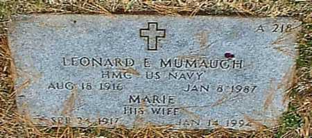 MUMAUGH, LEONARD E  VETERAN WWII - Greene County, Missouri | LEONARD E  VETERAN WWII MUMAUGH - Missouri Gravestone Photos