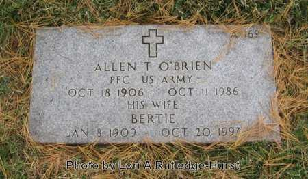O'BRIEN, BERTIE - Greene County, Missouri | BERTIE O'BRIEN - Missouri Gravestone Photos