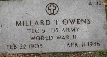 OWENS, MILLARD T - Greene County, Missouri   MILLARD T OWENS - Missouri Gravestone Photos