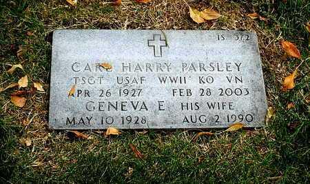 PARSLEY, GENEVA ELLEN - Greene County, Missouri | GENEVA ELLEN PARSLEY - Missouri Gravestone Photos