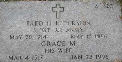 PETERSON, FRED H - Greene County, Missouri | FRED H PETERSON - Missouri Gravestone Photos