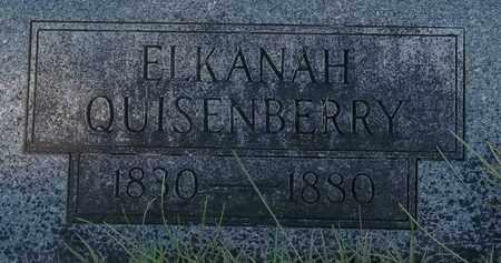 QUISENBERRY, ELKANAH - Greene County, Missouri | ELKANAH QUISENBERRY - Missouri Gravestone Photos