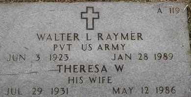 RAYMER, WALTER L - Greene County, Missouri   WALTER L RAYMER - Missouri Gravestone Photos