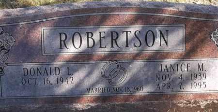 ROBERTSON, JANICE M - Greene County, Missouri | JANICE M ROBERTSON - Missouri Gravestone Photos