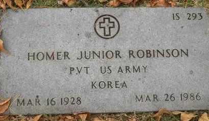 ROBINSON, HOMER JUNIOR - Greene County, Missouri | HOMER JUNIOR ROBINSON - Missouri Gravestone Photos