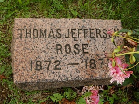 ROSE, THOMAS JEFFERSON - Greene County, Missouri | THOMAS JEFFERSON ROSE - Missouri Gravestone Photos