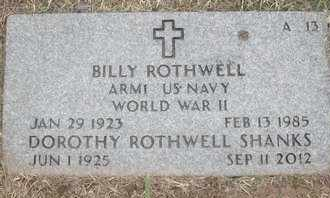 ROTHWELL, BILLY - Greene County, Missouri | BILLY ROTHWELL - Missouri Gravestone Photos