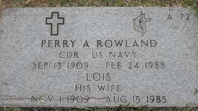 ROWLAND, PERRY A - Greene County, Missouri | PERRY A ROWLAND - Missouri Gravestone Photos