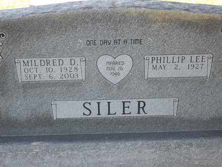 SILER, MILDRED D - Greene County, Missouri | MILDRED D SILER - Missouri Gravestone Photos
