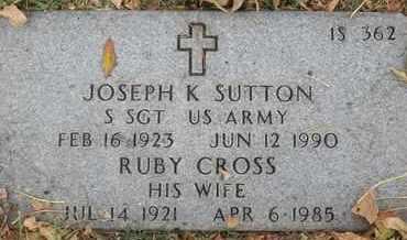 SUTTON, RUBY - Greene County, Missouri | RUBY SUTTON - Missouri Gravestone Photos