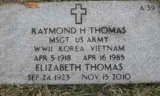 THOMAS, RAYMOND H - Greene County, Missouri | RAYMOND H THOMAS - Missouri Gravestone Photos