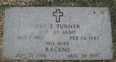 TURNER, RACENE - Greene County, Missouri | RACENE TURNER - Missouri Gravestone Photos