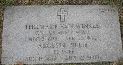 VAN WINKLE, AUGUSTA BILLIE - Greene County, Missouri   AUGUSTA BILLIE VAN WINKLE - Missouri Gravestone Photos