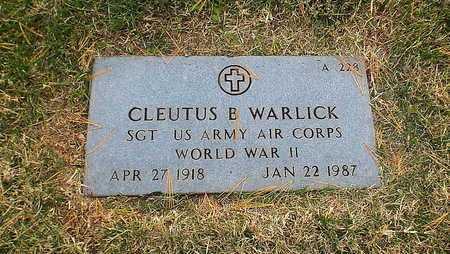 WARLICK, CLEUTUS BRADY  VETERAN WWII - Greene County, Missouri | CLEUTUS BRADY  VETERAN WWII WARLICK - Missouri Gravestone Photos