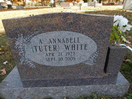 WHITE, A ANNABELL - Greene County, Missouri | A ANNABELL WHITE - Missouri Gravestone Photos