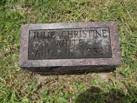 WHITE, JULIE CHRISTINE - Greene County, Missouri | JULIE CHRISTINE WHITE - Missouri Gravestone Photos
