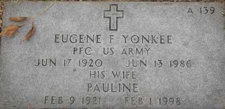 YONKEE, EUGENE F - Greene County, Missouri | EUGENE F YONKEE - Missouri Gravestone Photos