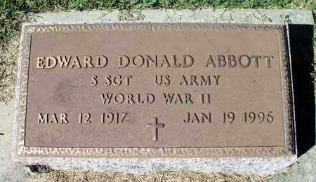 ABBOTT (VETERAN WWII)_, EDWARD DONALD - Howell County, Missouri   EDWARD DONALD ABBOTT (VETERAN WWII)_ - Missouri Gravestone Photos