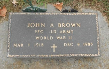 BROWN, JOHN ARNOLD VETERAN WWII - Howell County, Missouri | JOHN ARNOLD VETERAN WWII BROWN - Missouri Gravestone Photos