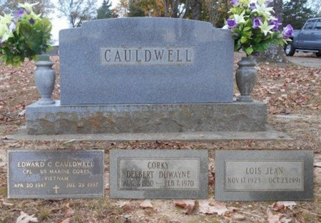 "CAULDWELL, DELBERT DUWAYNE ""CORKY"" - Howell County, Missouri | DELBERT DUWAYNE ""CORKY"" CAULDWELL - Missouri Gravestone Photos"