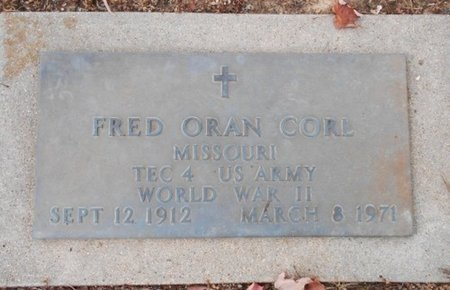 CORL, FRED ORAN, SR. VETERAN WWII - Howell County, Missouri | FRED ORAN, SR. VETERAN WWII CORL - Missouri Gravestone Photos