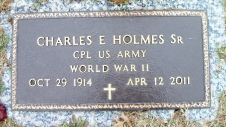 HOLMES, CHARLES EDWARD, SR. VETERAN WWII - Howell County, Missouri | CHARLES EDWARD, SR. VETERAN WWII HOLMES - Missouri Gravestone Photos