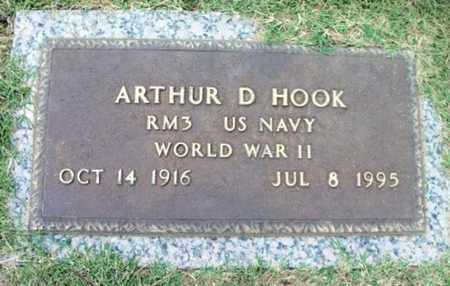 HOOK, ARTHUR DICK VETERAN WWII - Howell County, Missouri | ARTHUR DICK VETERAN WWII HOOK - Missouri Gravestone Photos