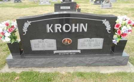KROHN, BEN C. - Howell County, Missouri | BEN C. KROHN - Missouri Gravestone Photos