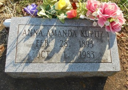 SCHWARTZ KUPITZ, ANNA AMANDA - Howell County, Missouri | ANNA AMANDA SCHWARTZ KUPITZ - Missouri Gravestone Photos