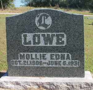 HELLBERG LOWE, MOLLIE EDNA - Howell County, Missouri | MOLLIE EDNA HELLBERG LOWE - Missouri Gravestone Photos