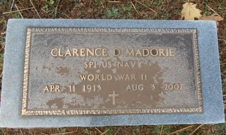 MADORIE, CLARENCE DAYTON VETERAN WWII - Howell County, Missouri   CLARENCE DAYTON VETERAN WWII MADORIE - Missouri Gravestone Photos
