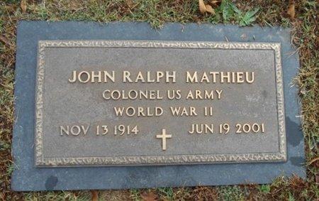 MATHIEU, JOHN RALPH VETERAN WWII - Howell County, Missouri | JOHN RALPH VETERAN WWII MATHIEU - Missouri Gravestone Photos