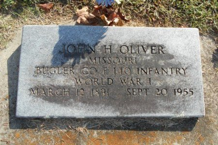 OLIVER, JOHN H. VETERAN WWI - Howell County, Missouri | JOHN H. VETERAN WWI OLIVER - Missouri Gravestone Photos