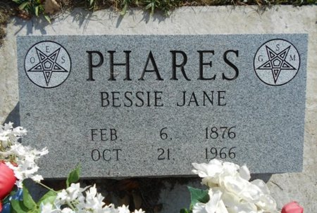 GODWIN PHARES, BESSIE JANE - Howell County, Missouri | BESSIE JANE GODWIN PHARES - Missouri Gravestone Photos
