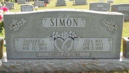SIMON, LEONARD A. - Howell County, Missouri | LEONARD A. SIMON - Missouri Gravestone Photos