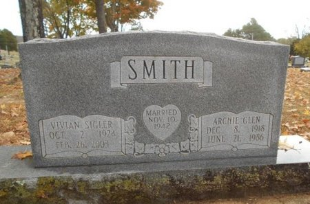 SMITH, ARCHIE GLEN - Howell County, Missouri | ARCHIE GLEN SMITH - Missouri Gravestone Photos