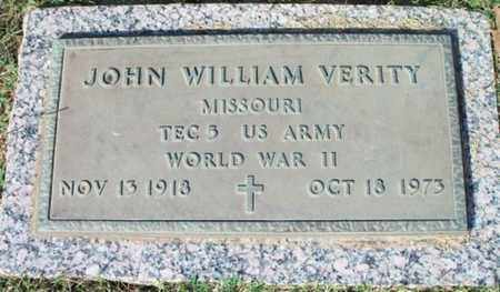 VERITY, JOHN WILLIAM VETERAN WWII - Howell County, Missouri | JOHN WILLIAM VETERAN WWII VERITY - Missouri Gravestone Photos