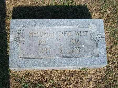 "WEST, MYCUEL P. ""PETE"" - Howell County, Missouri   MYCUEL P. ""PETE"" WEST - Missouri Gravestone Photos"
