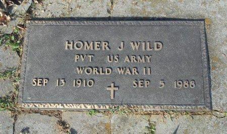 WILD, HOMER J. VETERAN WWII - Howell County, Missouri | HOMER J. VETERAN WWII WILD - Missouri Gravestone Photos