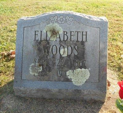 WOODS, ELIZABETH - Howell County, Missouri | ELIZABETH WOODS - Missouri Gravestone Photos